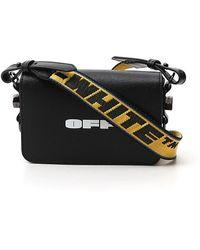 Off-White c/o Virgil Abloh Logo Print Mini Flap Shoulder Bag - Black