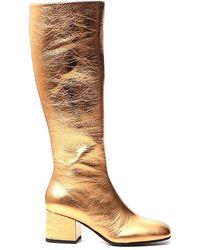 Marni Square-toe Boots - Metallic