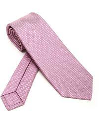BVLGARI Pictorial Tie - Pink