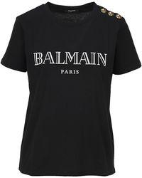 Balmain Logo T-shirt - Black