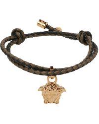 Versace Medusa Charm Bracelet - Black