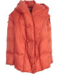 Issey Miyake Detachable Sleeve Puffer Jacket - Red