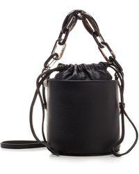RED Valentino Redvalentino Chain-detailed Bucket Bag - Black