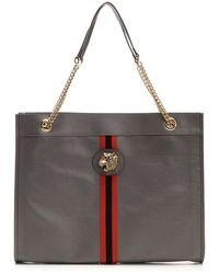 Gucci Raja Large Tote Bag - Gray
