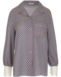 Fendi - Printed Silk Pyjama Shirt - Lyst