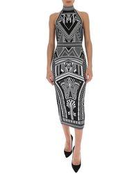 Balmain Jacquard Midi Dress - Black