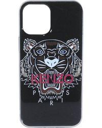 KENZO Logo Printed Iphone 12 Pro Max Case - Black