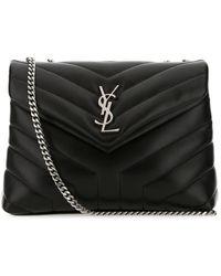 Saint Laurent Leather Small Loulou Shoulder Bag - Black