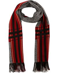 Etro Checked Fringed Scarf - Red