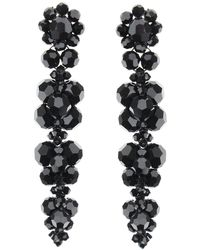 Simone Rocha Earrings With Crystals - Black