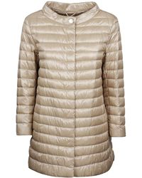 Herno Quilted Down Jacket - Natural