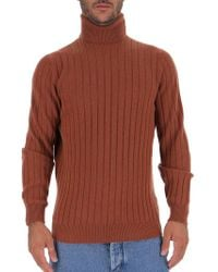 Brunello Cucinelli Ribbed Turtleneck - Brown