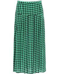 RIXO London London Nancy Midi Skirt - Green
