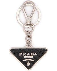Prada Logo Keyring - Black