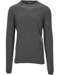 Rick Owens Round Neck Knit Sweater - Gray