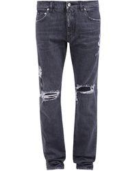 Dolce & Gabbana Distressed Jeans - Grey