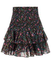 Étoile Isabel Marant Naomi Ruffled Skirt - Black