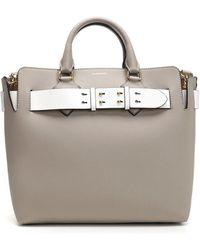 b683d4ed5d9e Burberry Medium Dk88 Top Handle Bag in Yellow - Lyst