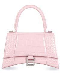 Balenciaga Hourglass Top Handle Bag - Pink