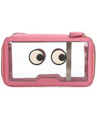 Anya Hindmarch Embellished Eyes Pouch - Pink