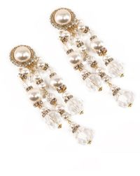 Alessandra Rich Embellished Clip-on Earrings - Metallic