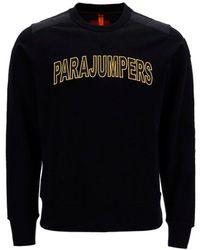 Parajumpers Logo Detailed Crewneck Sweatshirt - Black