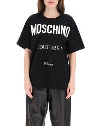 Moschino Couture Print T-shirt - Black
