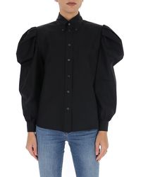 Miu Miu Puff Sleeve Chest Pocket Shirt - Black