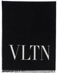 Valentino Vltn Knit Scarf - Black