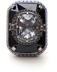 Alexander McQueen Crystal Ring - Multicolor