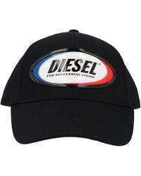DIESEL Logo Patch Cap - Black