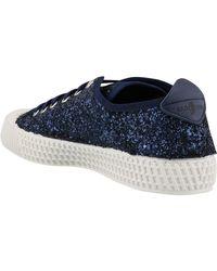 Car Shoe Glittered Low-top Sneakers - Blue