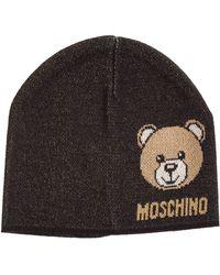 Moschino Women's Beanie Hat Teddy - Black