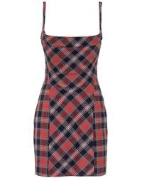 DSquared² Tartan Check Mini Dress - Red