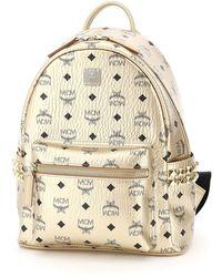 MCM Stud Embellished Backpack - Metallic