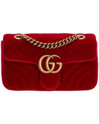 Gucci GG Marmont Mini Bag - Red