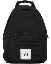 Y-3 Logo Patch Backpack - Black