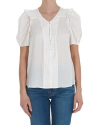 Zadig & Voltaire Twity Satin Top - White
