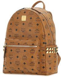 MCM Stark Studded Backpack - Brown