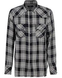 DIESEL S-east-long-tub Check Shirt - Multicolor