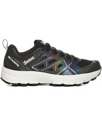 Herno Logo Printed Lace-up Trainers - Multicolour