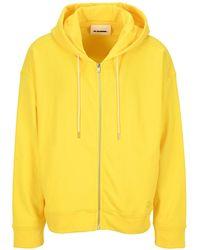 Jil Sander Drawstring Hooded Jacket - Yellow