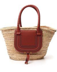 Chloé Marcie Medium Basket Bag - Red