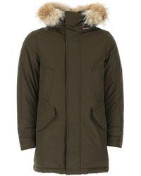 Woolrich - Army Cotton Blend Polar Down Jacket Uomo - Lyst