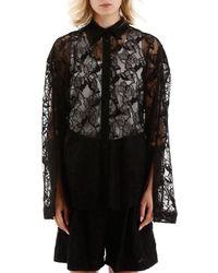 MSGM Lace Shirt - Black