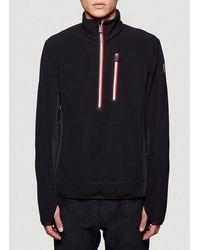 3 MONCLER GRENOBLE Half Zip Pullover - Black