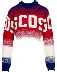 Gcds Gradient Knitted Jumper - Red