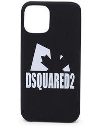DSquared² Dsquare2 Logo Printed Iphone 12 Case - Black