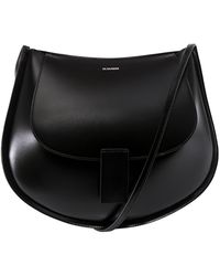 Jil Sander Half-moon Crossbody Bag - Black