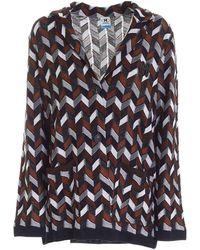 M Missoni Herringbone Patterned Knitted Cardigan - Multicolour